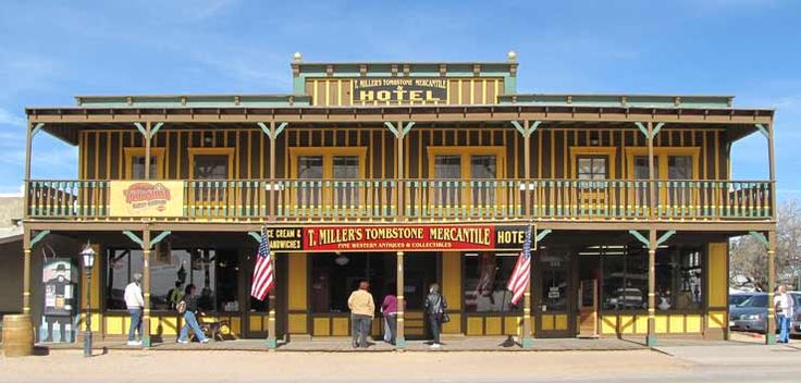 Tombstone, AZ - T. Miller's Tombstone Mercantile.  Features a hotel, ice cream parlor and authentic cowboy gear.