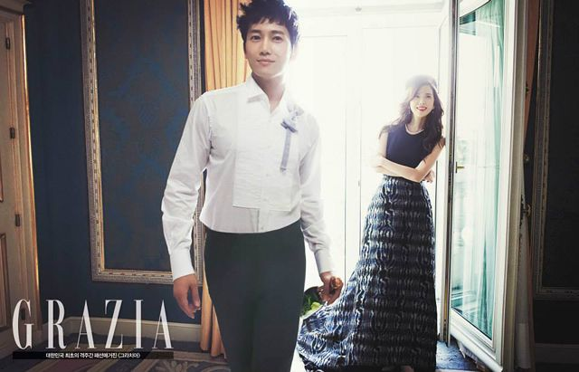 Ji Sung's & Lee Bo Young's 3rd Batch of Pre-Wedding Shots From GRAZIA Korea's October 2013 Issue | Couch Kimchi