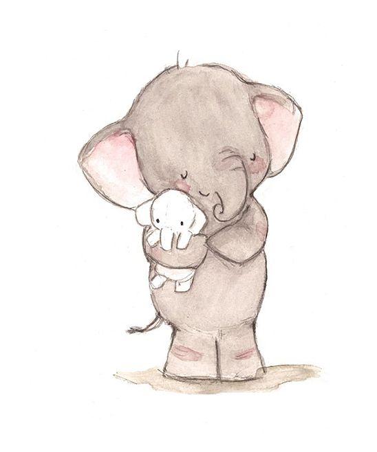Elephant Love Print | zulily