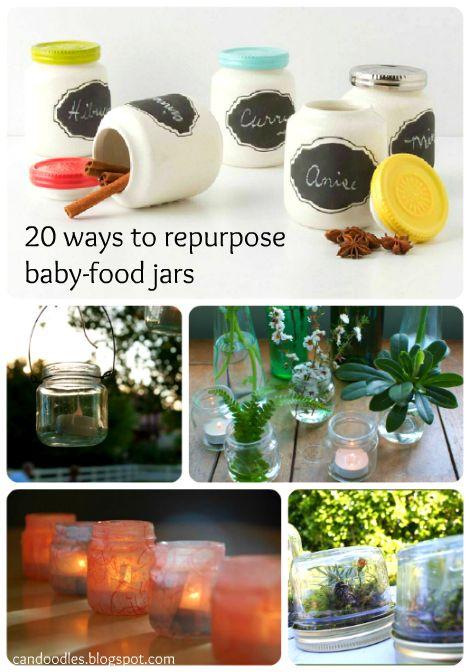 Re-purposing Baby Food Jars: Baby Food Jars Crazy, Repurposed Baby, Diy Baby Food Jars, Baby Jars, Babyfood, Spices Jars, Baby Foods, Jars Ideas, Refab Diaries