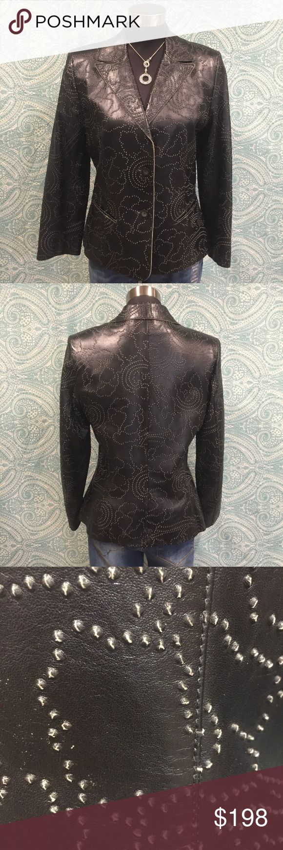 🔥STUNNING ITALIAN LEATHER JACKET 🔥 All eyes will be on you when you wear this GORGEOUSLY detailed buttery leather jacket. Marisa Minicucci Jackets & Coats
