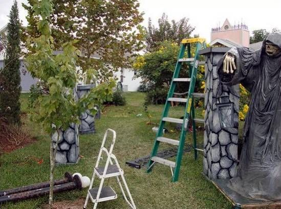 743 best images about halloween graveyard scene on pinterest for Decoration jardin halloween