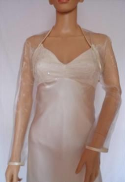 silver organza shrug | champagne organza full length sleeved bolero 15 99 sizes available 10 ...