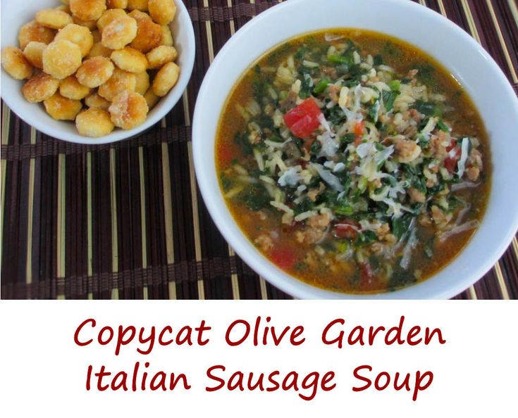 Wow, who would've thought something so simple could be so good? Anita absolutely loves this copycat Olive Garden Italian sausage soup. It's very easy to make. Bonus!
