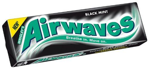 Wrigley Airwaves Black Mint Menthol Sugar Free Chewing Gum 10 Pellets (pack Of 30). Sugarfree chewing gum with sweeteners and menthol and anis flavours.