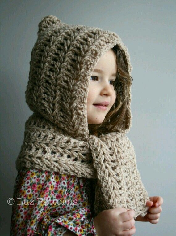 Perfect for little girls and women in the winter.  Hat plus scarf!!