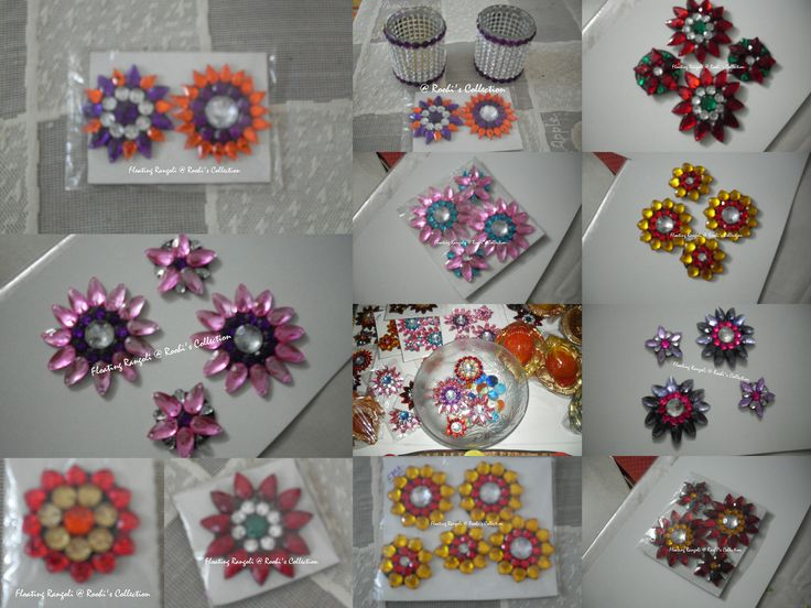 Floating rangolis handmade