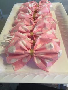 Image result for clear cutlery with napkins with flowers