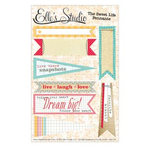 The Sweet Life - Pennants :: The Sweet Life :: By Collection :: Elle's Studio Tags :: Elle's Studio