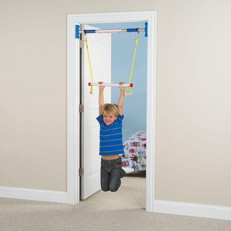 The doorway jungle gym hammacher schlemmer gymnastics for Baby jungle gym indoor