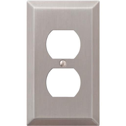 amertac westek bn outlet wallplate 163dbn unit each bronze