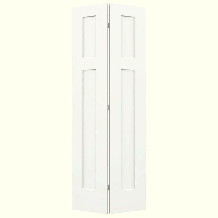 Jeld wen 24 in x 80 in smooth 3 panel craftsman hollow - Home depot interior door installation cost ...