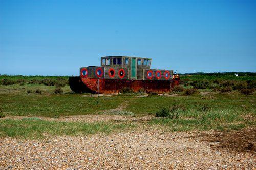 Old house boat Blakeney Norfolk