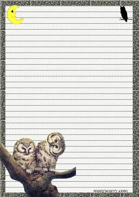 Journal Paper Printable lined stationery | Art...