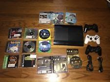 Sony PlayStation 3 Super Slim 250GB Console controllers games lot Ico Colossus