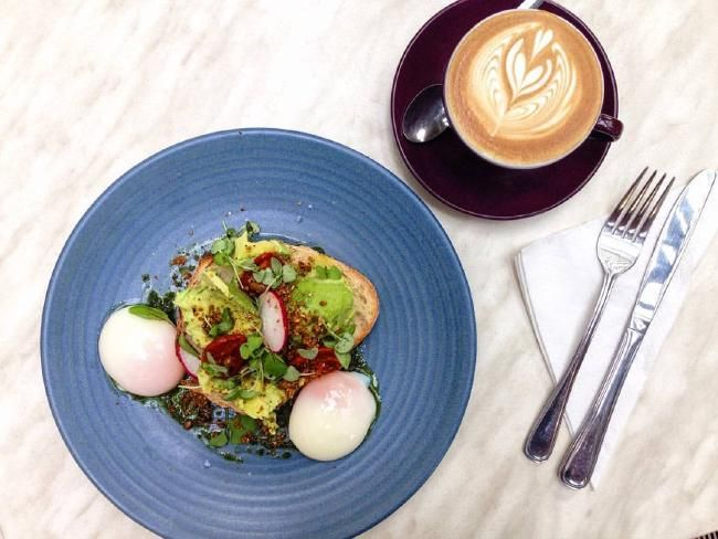 A breakfast dish at Coffee Anthology.