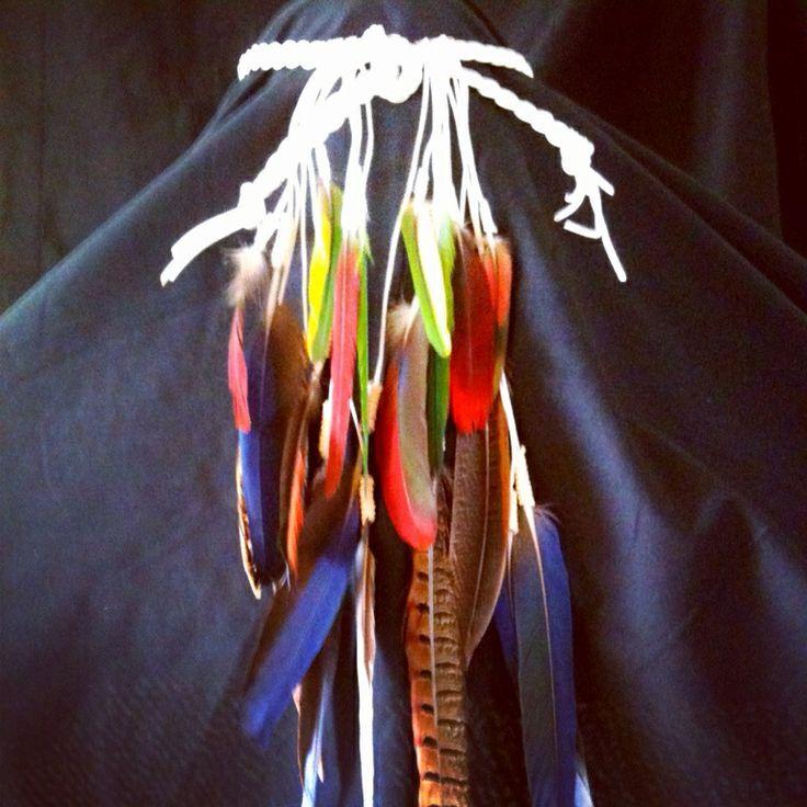 Boho / Bohemian Headband   I call this creation 'Parrots Paradise' .. 98% parrot feathers .. :)