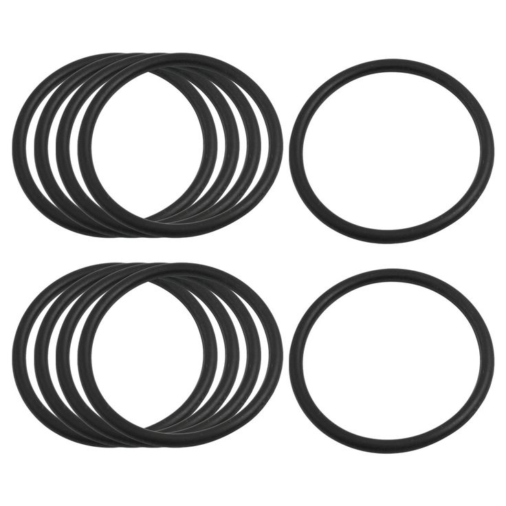 UXCELL 3.1Mm X 45Mm Black Nitrile Rubber Sealing O Ring Seal Washer Grommets 10 Pcs #Affiliate