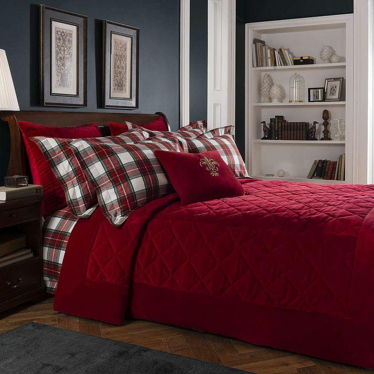 Dorma Isla Red Bedspread | Dunelm