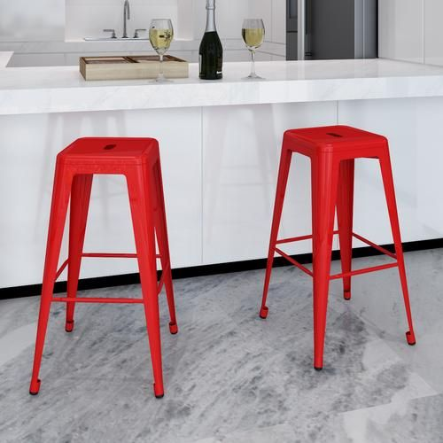 #Sgabelli da bar quadrati 2 pezzi rossi  ad Euro 75.99 in #Vidaxl #Home > arredamento > sedie >