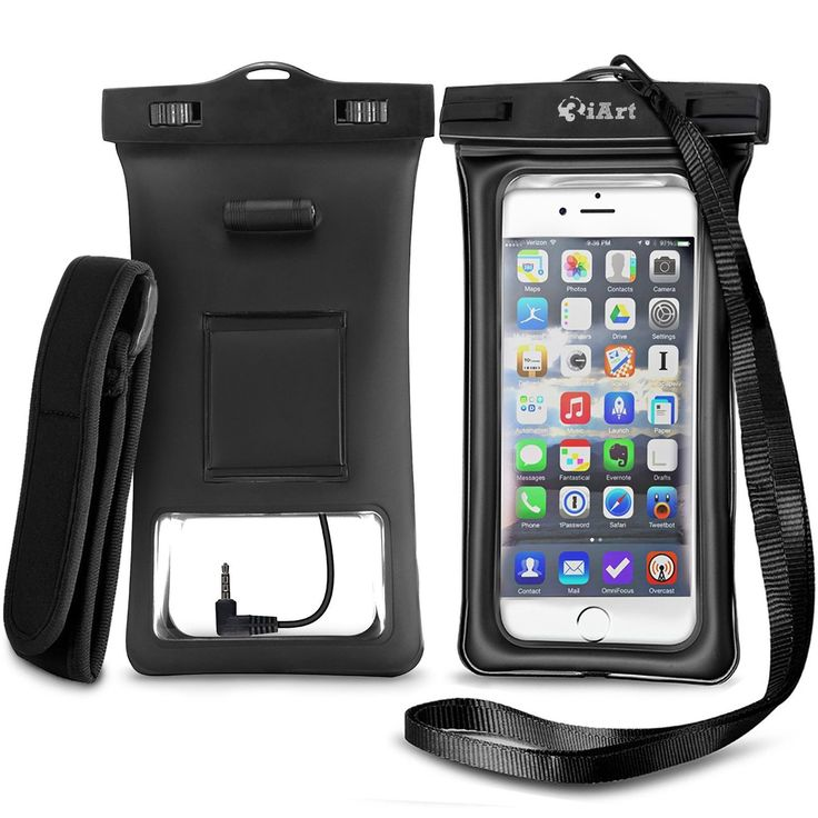 Floating Waterproof Case Dry Bag with Armband & Audio Jack for iPhone 6 6 plu...