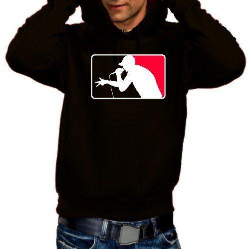 Coole Fun T-Shirts exclusive MC prime HOODIE Druck, rot schwarz, Grösse: S