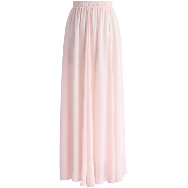 Chicwish Fairy Pink Chiffon Maxi Skirt ($36) ❤ liked on Polyvore featuring skirts, bottoms, chicwish, pink, ankle length skirts, long pink skirt, floor length skirts, chiffon skirts and pink chiffon maxi skirt