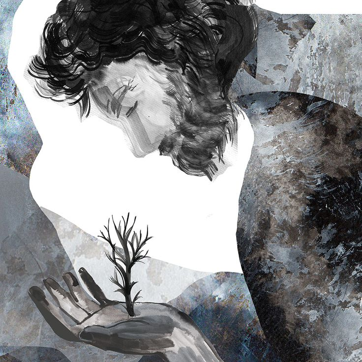 """""""The Stone and the Earth"""" illustration by Lucy Burns  www.lucy-burns.com"""