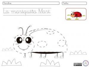 Ficha de grafomotricidad. #infantil