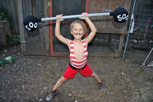 Disfraz casero de forzudo francés :)) | Disfraz infantil