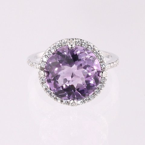 Purple Amethyst- Kellie Tiara Ring | Elverd Designs