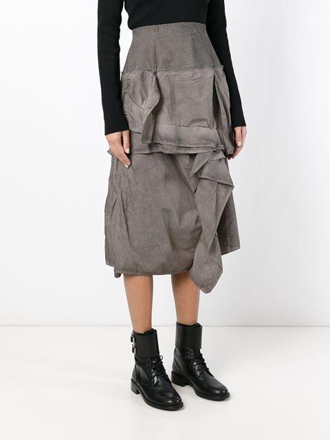асимметричная юбка с рюшами