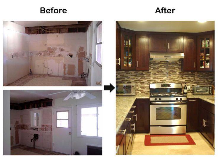 Older Model Mobile Home Makeover before and after | Before & After