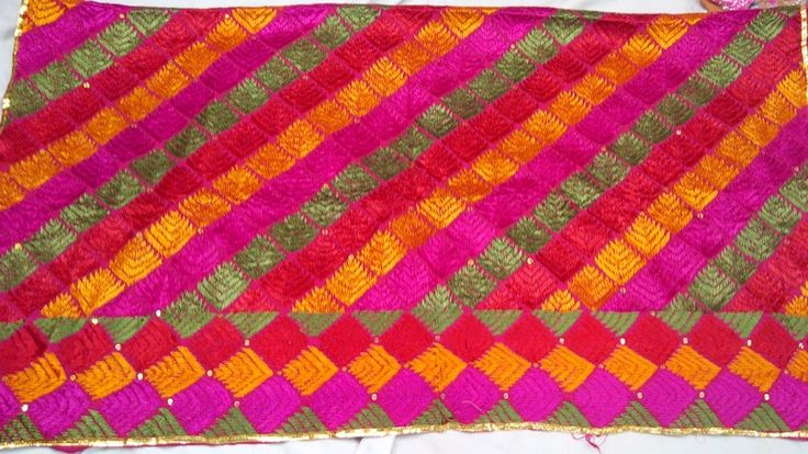 Hand embroidered Phulkari Bagh available @ www.facebook.com/palakscreations