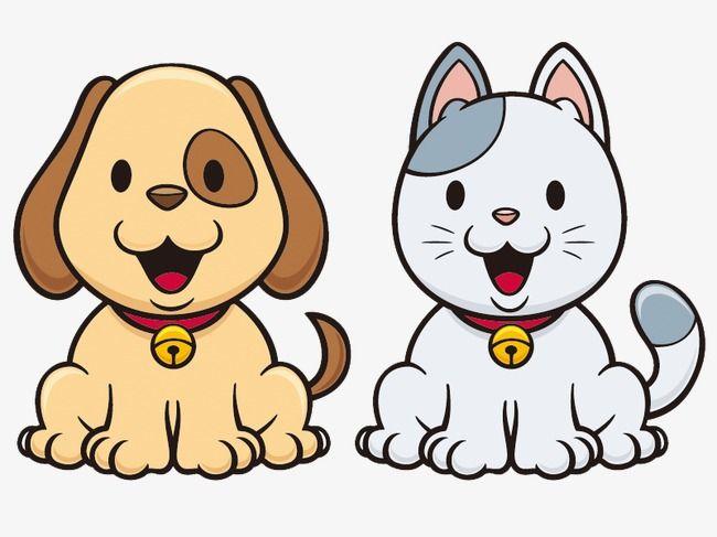 Dibujos De Gatos Y Perros Perros Tiernos Animados