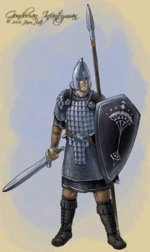 Gondorian Infantryman by jasonjuta on DeviantArt | Men of ...  Gondorian Infan...