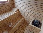 Finska sauna - Calidum - izrada sauna po mjeri (finske, parne, infra i bio saune), keramičke i drvene ležaljke, masažni stolovi, spiralni tuševi, tuševi s raznim programima, ledene fontane, kneipp kupelji, solariji, whirlpooli te kućna i profesionalna fitness oprema.