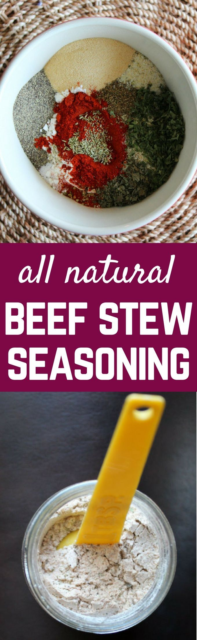 ALL NATURAL Beef Stew Seasoning Mix. Tastes better than the packets and you get…