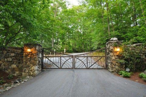 Gated entrance of Cedar Hill
