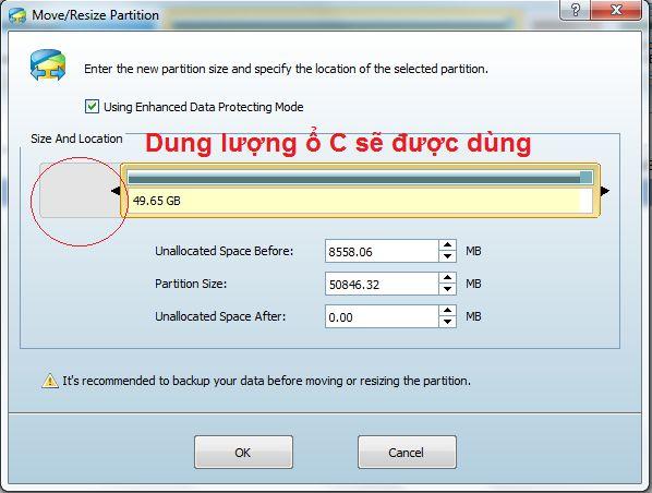 Chia dung lượng ổ cứng không mất dữ liệu - ảnh 4