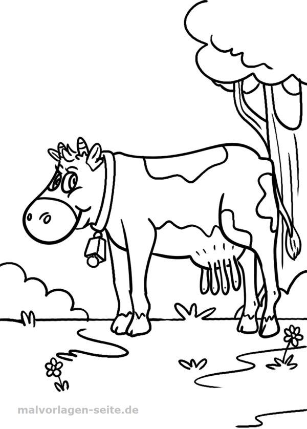malvorlage kuh  tiere bauernhof  kostenlose ausmalbilder