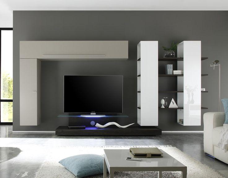 11 best meuble tv images on Pinterest Murals, Salons and DIY - peindre un meuble laque blanc