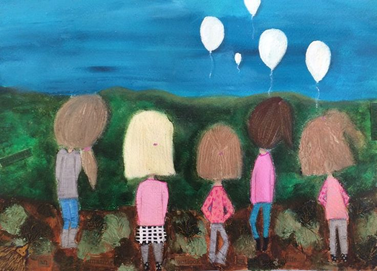 This piece was created to remember a very special moment in the lives of these five girls, when they said goodbye to their loving and wonderful grandfather.