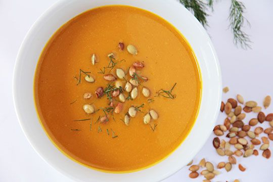 Kabocha Squash and Fennel Soup with toasted Pumpkin Seeds #soup # ...