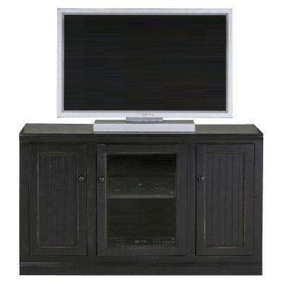 Eagle Furniture Coastal 55 in. Plain Glass Tall Entertainment Center - 72855PLWH, EAGL240-17