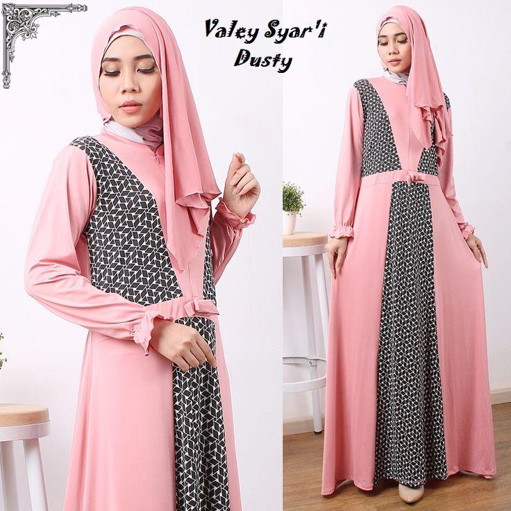 Baju Muslim Gamis Syar'i Valey Syari Dusty - http://warongmuslim.com/baju-muslim-gamis-syari-valey-syari-dusty.html