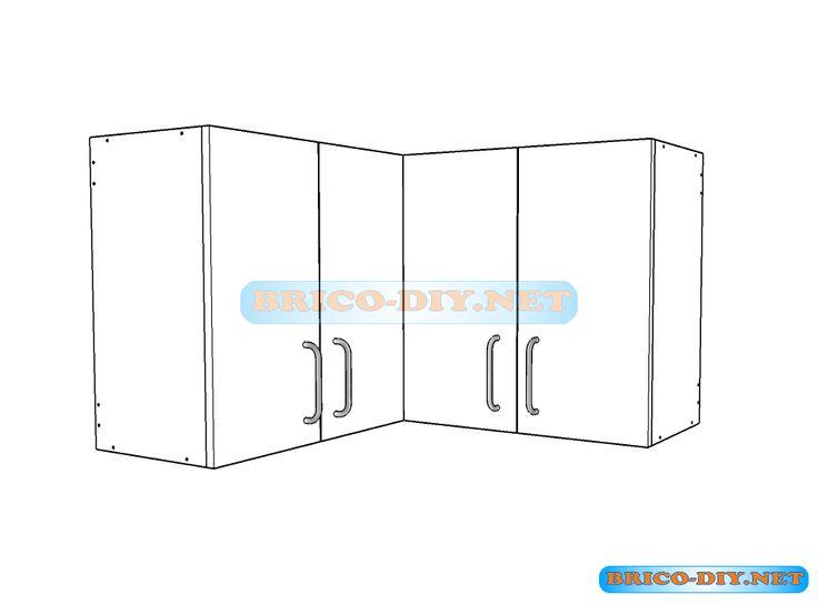 Muebles de cocina plano de alacena de melamina esquinera for Software para hacer muebles