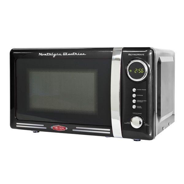 Nostalgia Electrics Compact Microwave Oven Black Retro Series 0 7 Cu Ft Vintage