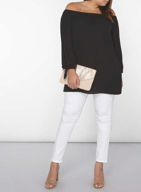 **DP Curve Black Bardot Top - 25% Off Selected Lines - Sale & Offers - Dorothy Perkins
