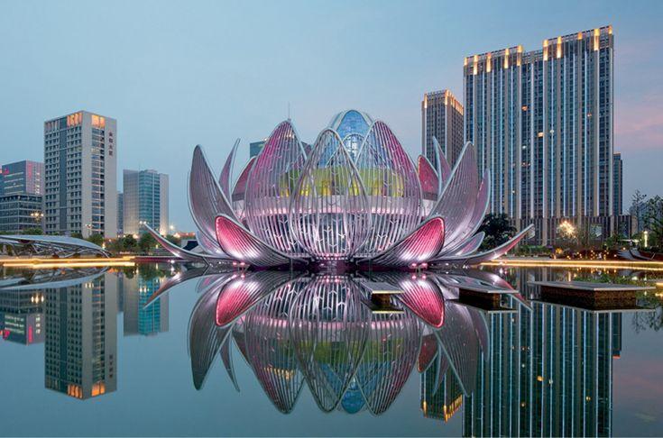 the lotus building by studio505 blooms in wujin, china
